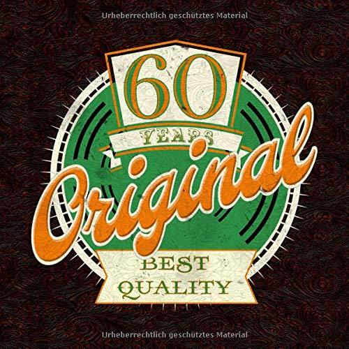 Zum 60. Geburtstag - Gästebuch: Gästebuch Geburtstag - lustiges 60. Geburtstagsgeschenk Vintage-Gästebuch - Geschenkidee - Glückwünsche zum Geburtstag