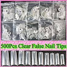 ungfu Mall 500pcs transparente uñas