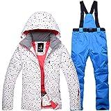 Mitef, set giacca e pantaloni da neve, impermeabile, antivento, da donna