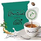 BOCCA DELLA VERITA - Confezione da 50 Cialde E.S.E. Aroma GINSENG AMARO, Compatibili con Macchina da Caffè E.S.E. dm 44mm, Ci