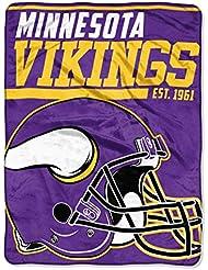 Northwest NFL MINNESOTA VIKINGS 40 Yard Dash Micro Raschel Throw Blanket