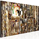 murando - Bilder Gustav Klimt Mutter und Kind 200x80 cm Vlies Leinwandbild 5 TLG Kunstdruck modern Wandbilder XXL Wanddekoration Design Wand Bild - Abstrakt Gold l-C-0007-b-m