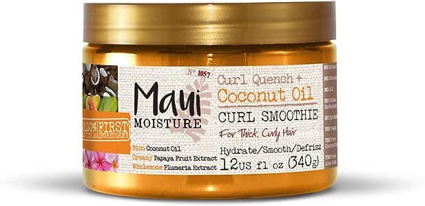Maui Moisture Vegan Hair Mask for Curly Hair, Coconut Oil & Aloe Vera, 340 g