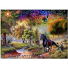 Diamond Painting, Nelnissa 5D cavallo al galoppo Diamond Painting DIY punto croce ricamo Home Decor