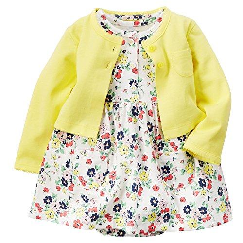SwallowukBaby Mädchen Kleid Mädchen Mantel mit Blumen Kleid (12M, 9) -