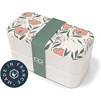 monbento - MB Original bento box Graphic Bloom Made in France - Lunch box motif fleurs hermétique 2 étages - Boîte repas…