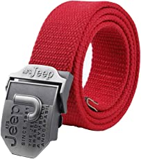 Fancyku Men's Automatic Buckle Casual Woven Canvas Belt