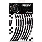 VFLUO GP Design™, Kit de Cintas, Rayas Retro Reflectantes para Llantas de Moto (1 Rueda), 3M Technology™, Anchura XL : 10 mm,