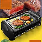Electric Barbecue Grill 8-Person Raclette Portable With Reversible Cast Aluminum Non-Stick Grill Plate/Crepe Top