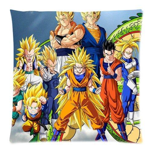 Japón Anime dibujos animados Dragon Ball Super Saiyan Goku Gohan y el dragón funda de cojín de manta...