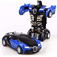 Gentoo Toys Small Friction Car 2 in 1 Feature Car Converting to Robot, Robot to Car, Deformer Toy, Plastic Vehicles Boys…
