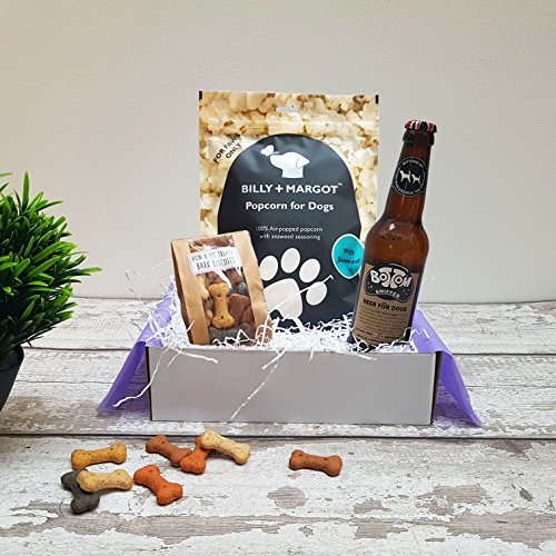 Poochie Presents Dog Treat Box Present Gift Hamper - Un-Beer-Lievable