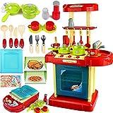 TOOGOO 1 Satz tragbare rot elektronische Kinder Kinder Kueche Kochen Maedchen Spielzeug Herd Spielset