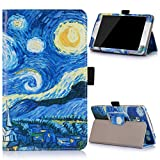 Voguecase® Per Samsung Galaxy Tab J 7.0 T285DY,(struttura interna-stella 02) Elegante in Tablet pelle Case Cover Protezione Con Stilo Penna