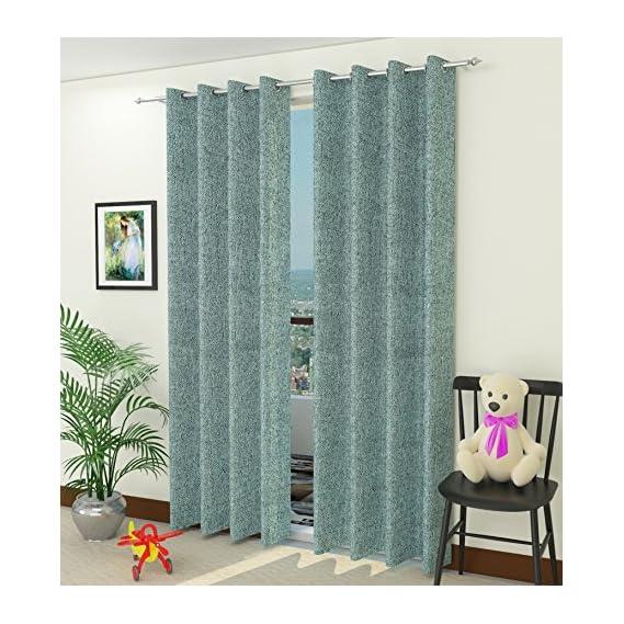 Jute Curtains - Eyelet Jute Window Door Curtain