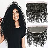 Perruque Bresilienne Lace Frontal Tissage (16 Frontal) Boucle Avec Lace Closure Deep Wave Curly Cheveux Naturelle Indien 4x13 Pre Plucked Free Part with Baby Hair