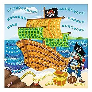 Ursus 8420005-Musgo Goma Mosaico de Pirata con Glitter, 434Piezas