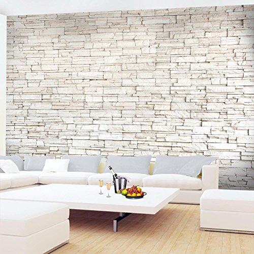 Fototapete Steinwand 3D Effekt 396 x 280 cm Vlies Wand Tapete Wohnzimmer  Schlafzimmer Büro Flur Dekoration Wandbilder XXL Moderne Wanddeko 100% MADE  ...