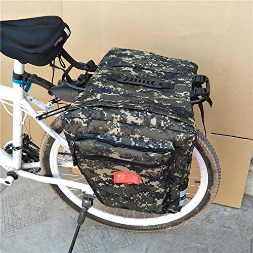 Fahrrad Gepäckträgertasche Wasserdicht Satteltasche, Mountain Bike Camo Satteltasche, 35L MTB Mountain Bike Rack Satteltasche, Multifunktions Road Fahrrad Pannier Rear Seat Trunk Bag (Bag Bike Road)