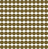 Kleberio® 1160 Klebepunkte 5mm aus PVC-Spezialfolie von ORAFOL selbstklebend glänzend Farbe: gold Markierungspunkte Außenbereich