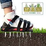 Sue Supply 8 correas de jardín, arandela de jardín, para jardín, para airear, para airear, para suelos, zapatos de jardín, sandalias de tierra con pinchos (negro y verde)