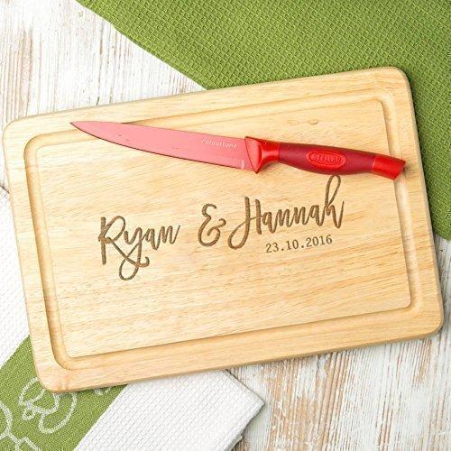 Personalisiertes Schneidebrett - Holz oder Schiefer - Valentinstagsgeschenk für sie - Jahrestag Geschenk für ihn und sie