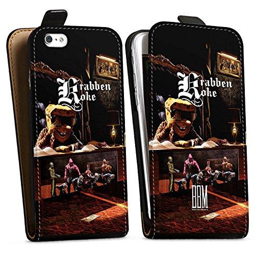 Apple iPhone 6s Hülle Case Handyhülle Spongebozz Krabbenkoke Fanartikel Merchandise Downflip Tasche schwarz