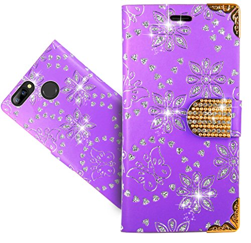 FoneExpert® Blackview A7 / A7 Pro Handy Tasche, Wallet Case Cover Bling Diamond Hüllen Etui Hülle Ledertasche Lederhülle Schutzhülle Für Blackview A7 / A7 Pro