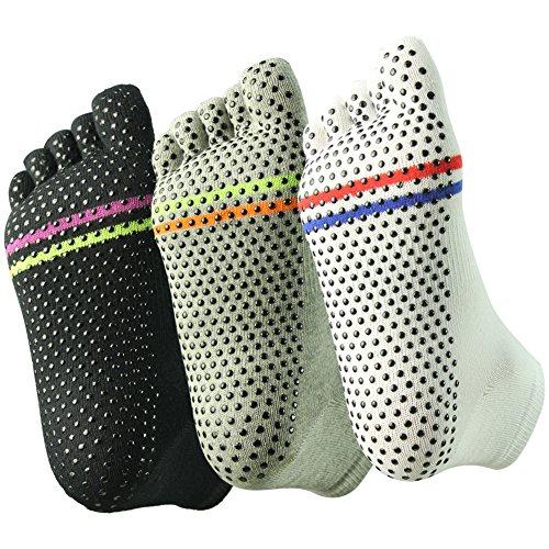 Stoppersocken antirutsch Joga Socken Füßlinge länge für Damen von J'colour,3 Paar EU 37-43