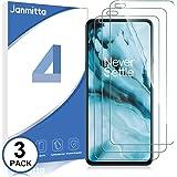 Janmitta Schermbeschermer voor OnePlus Nord [3 Pack], 9H High-Definition gehard glas [Ultra Thin] [Anti-Bubble] Beschermfolie