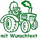 Babyaufkleber mit Name/Wunschtext - Motiv 792 (16 cm) - 20 Farben und 11 Schriftarten wählbar
