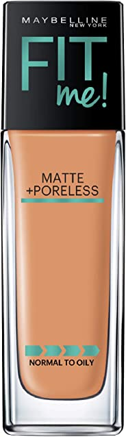 Maybelline New York Fit Me Matte+Poreless Liquid Foundation, 335 Classic Tan, 30ml