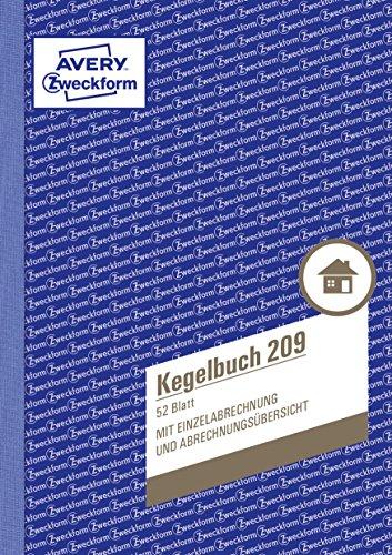 AVERY Zweckform 209 Kegelbuch (A5, mit Statuten, 52 Blatt) weiß