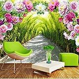 Guyuell Benutzerdefinierte Mural Tapete 3D Stereo Blumen Flur Foto Wand Mural Wohnzimmer Schlafzimmer Modische Wohnkultur Papel De Parede 3D-350Cmx245Cm