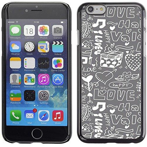 Graphic4You Art Hearts Design Harte Hülle Case Tasche Schutzhülle für Apple iPhone 6 Plus / 6S Plus Design #1