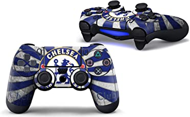 Elton PS4 Controller Designer 3M Skin for Sony PlayStation 4 DualShock Wireless Controller - Chelsea-Football-Logo, Skin for One Controller Only