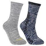 YUEDGE Herren 2 Paar Wandern Sport Socken für Trekking Camping Radfahren Tennis, Funktionssocken Atmungsaktiv, Hochleistung (XL, Dunkelblau/Hellgrau)