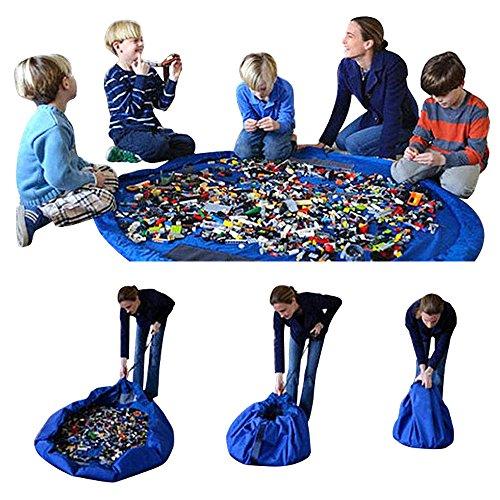 Giocattolo per bambini Borsa grande diametro 60inch portatile e play mat giocattoli organizzatore pieghevole rapidamente (Designers Lunch Box)
