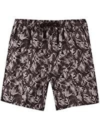 Mens Brave Soul Rainforest Hawaiian Swim Shorts Beach Leaves Print Board Trunks