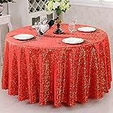 Nclon Hotel Esstisch Antifouling Tischdecke,Europäische Staubdicht Runden Quadratische Rechteckige Tischdecke Elegante Tischtuch tischwäsche Nicht verblassen-Rot 120 * 180cm