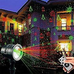 Idea Regalo - Colleer Proiettore LED Lampada a Scena Luci Dinamico Impermeabile IP65 per Interno e Esterno, Luce Notturna da Giardino Decorazione Party Festa Discoteca