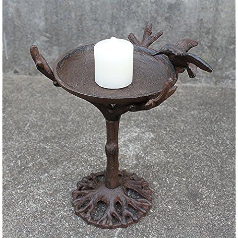 Ghisa artigianato , birdie emulazione contenitore vecchio candelabro