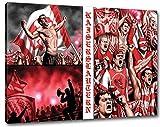 Ultras Kaiserslautern, Bild auf Leinwand XL , fertig