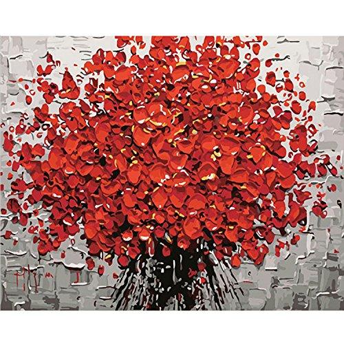 Gosear Pintura números Red Plum Blossom - DIY Pintura