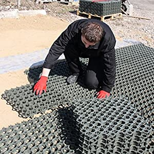 617GwZGg9wL. SS300  - True Products Ground Reinforcement Grid Gravel Grass Plastic Eco Paving Car Park Drive Path 500 x 500 x 40mm