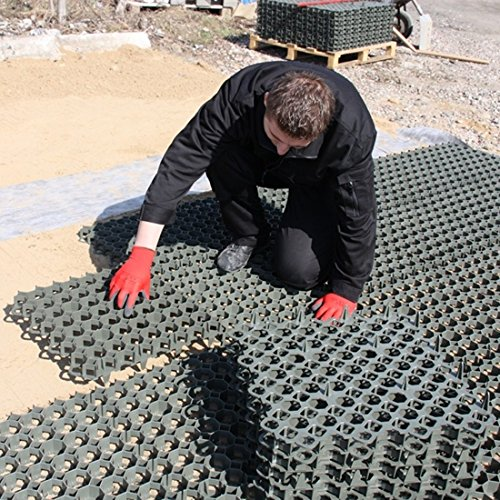 Grey TrueGrid Plastic Pavers for Grass or Gravel - Car or Walking Areas - 2 SqM - 8 x Grids - True Products Test