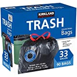 Kirkland Signature Drawstring Trash Bags - 33 Gallon - Xl Size - 90 Count (90 Count)
