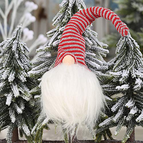 Mitlfuny Christmas,Weihnachtsdekoration,Christmas Decorations,Christmas Vacation,Forest Faceless Doll Glow Anhänger Hanging Ornaments Weihnachtsdekoration