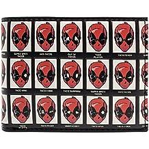 Cartera de Deadpool Mezcla de expresiones faciales Taco Negro