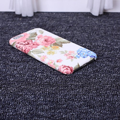ekinhui Schutzhülle Kleine frische Blumen Orangen Zitronen Früchte Colorful Seide Design Ultra Slim flexiblem PU Soft Schutzhülle für iPhone SE 5S 6 6S Plus, Gel, 4, IPhone 6S 6 8